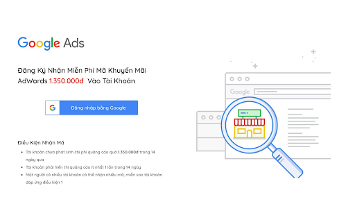 Mã khuyến mãi google ads